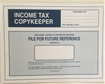 CL-206-IMP IMPRINTED Income Tax CopyKeeper - 9 1/2 x 12 5/8 WHITE