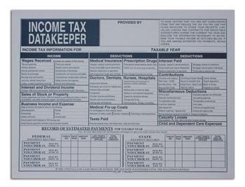 CL-207 NO IMPRINTING Income Tax DataKeeper File Envelope