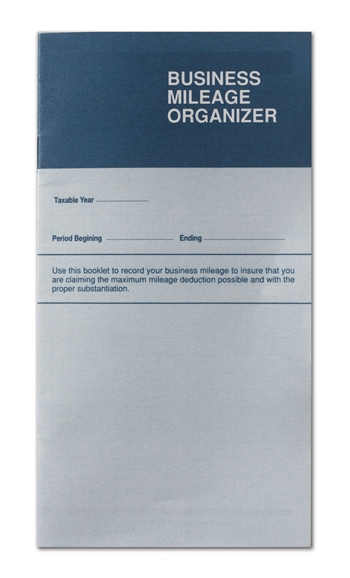 Business Mileage Organizer - Pocket or Purse Size (CS-117-IMP) IMPRINTED