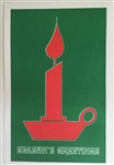 Holiday Insert 1 - Seasons Greetings/Red Candle