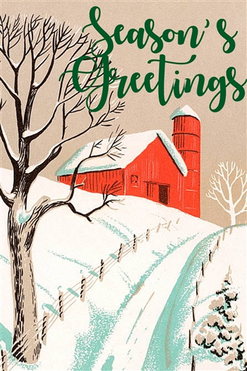 Holiday Insert 7 - Seasons Greetings/Barn