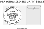 LB-306 Personalized Security Seals - 1000