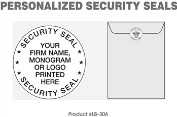Personalized Security Seals - 1000