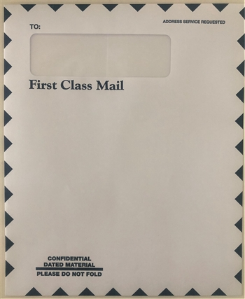 LB-310 NO IMPRINTING Single Window Mailing Envelope - WHITE 9 1/2 x 11 1/2