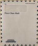 LB-310-IMP IMPRINTED Single Window Mailing Envelope - WHITE 9 1/2 x 11 1/2